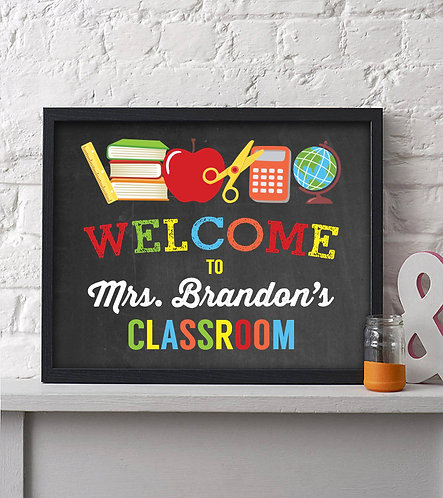 Welcome Classroom Print