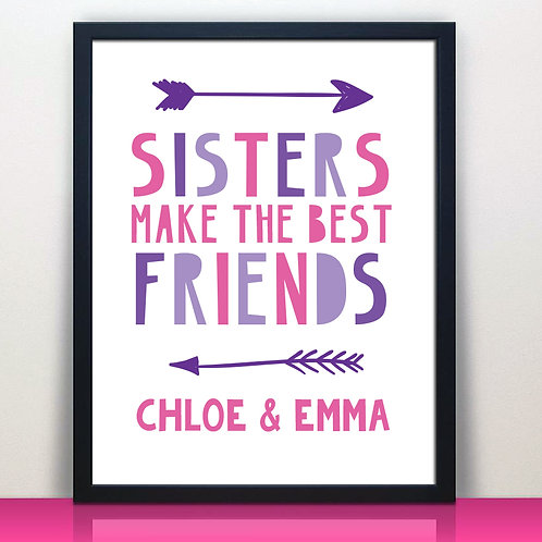 sisters make the best friends shared room decor pink and purple
