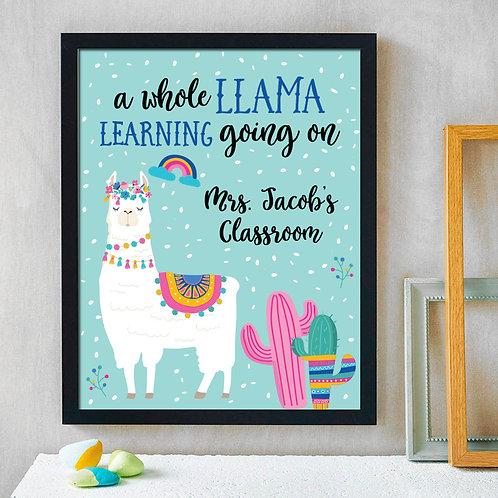 Comical Teacher Sign, Personalized Classroom Decor
