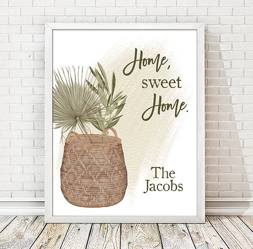 windy grass in a basket home sweet home decor