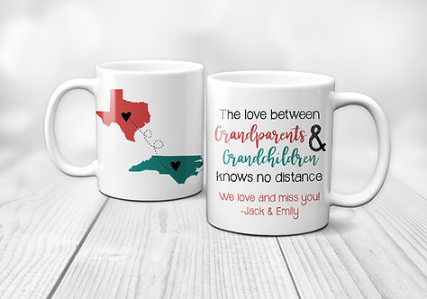 personalized long distant grandparents mug