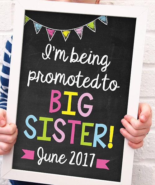 Big Sister Promotion Pregnancy Announcement