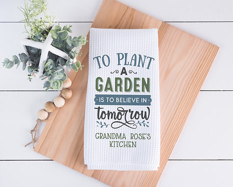 Personalized Gardening Towel