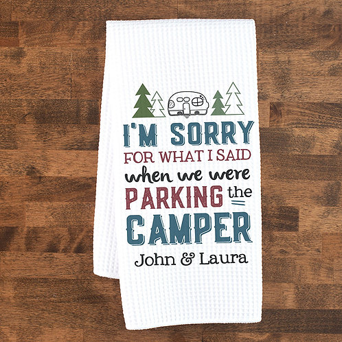 Parking the camper funny towel