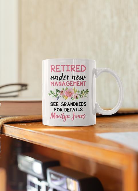 Personalized Retired Grandma Mug