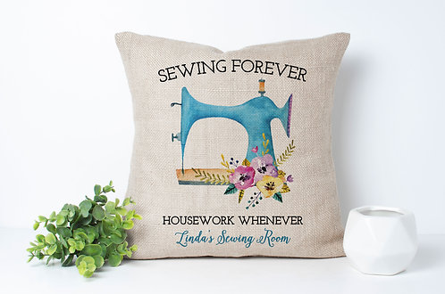 sewing forever housework whenever pillow