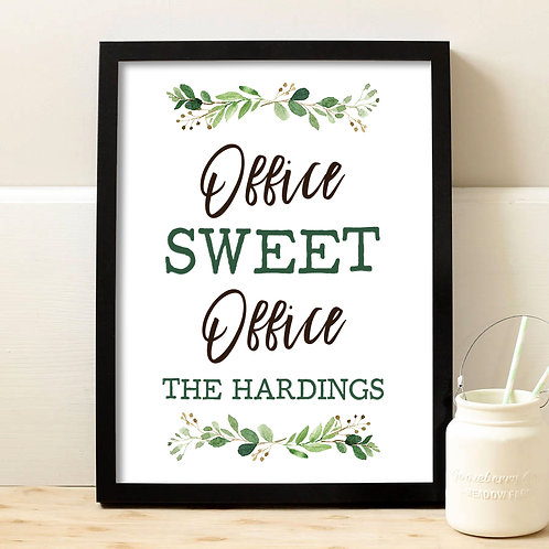 floral office print