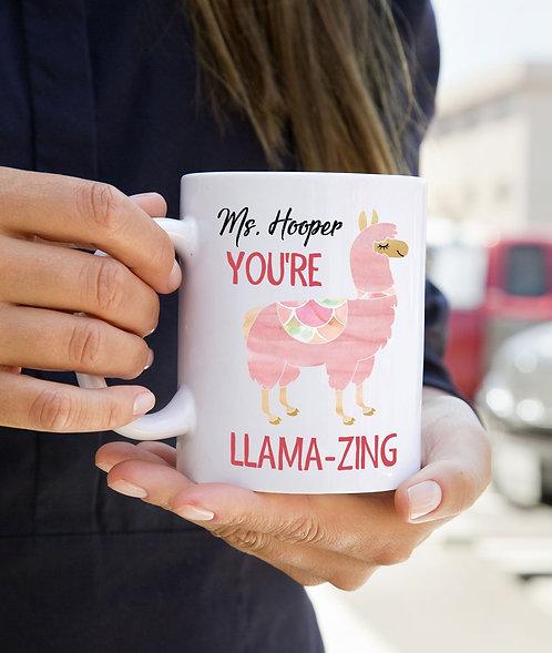Cute Llama Teacher Appreciation Mug