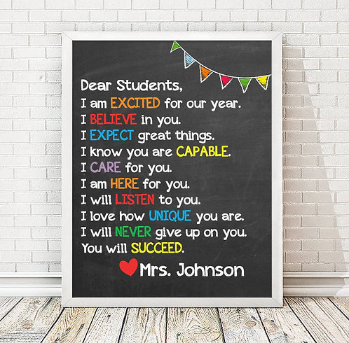 Encouraging Teacher Classroom Print