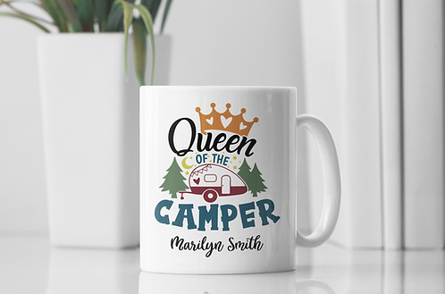 Personalized Queen Of The Camper Mug