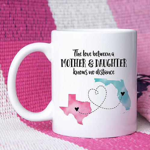 two state long distance relationship mug