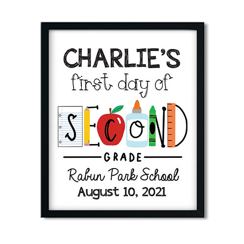 First Day of Second Grade Print