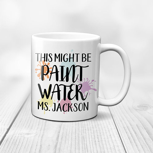 this might be paint water colorful paint mug
