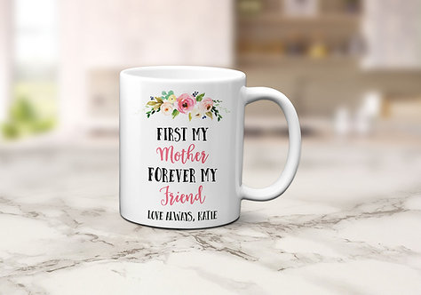 floral mother friendship mug
