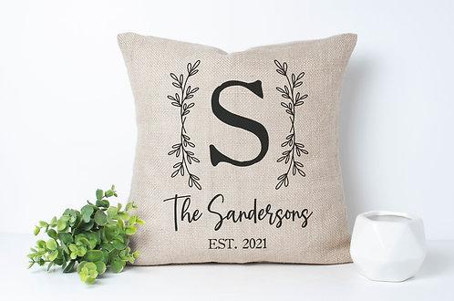 personalized monogram pillow