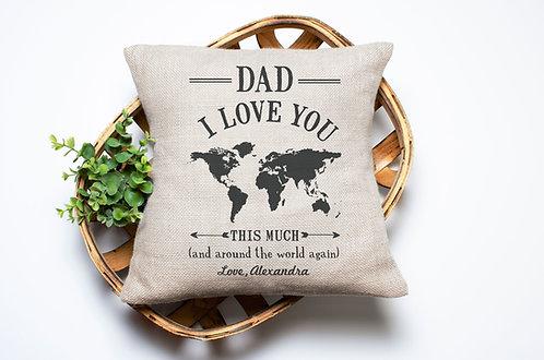Dad Map Pillow