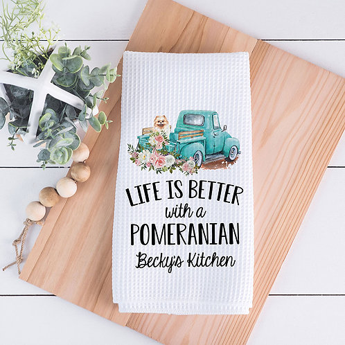 personalized life is better with a Pomeranian towel