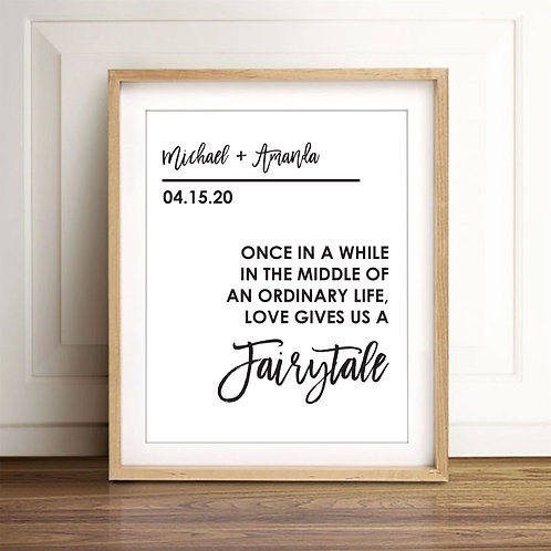 fairy tale print for couples