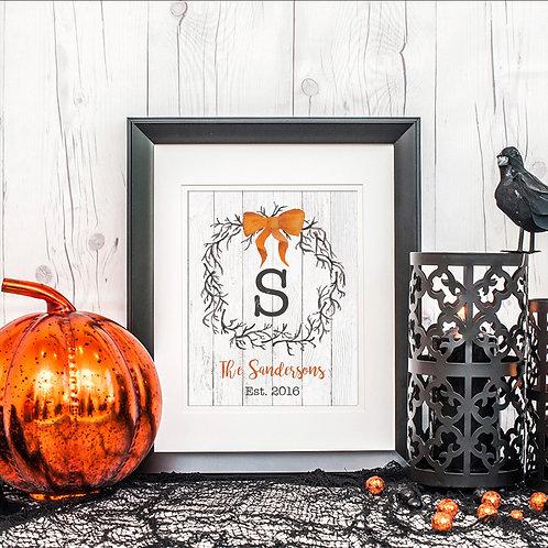 Personalized Halloween Decor