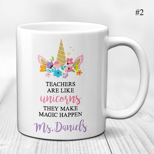 Teacher Appreciation Unicorn Mug