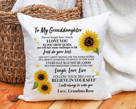 Personalized Granddaughter Pillow