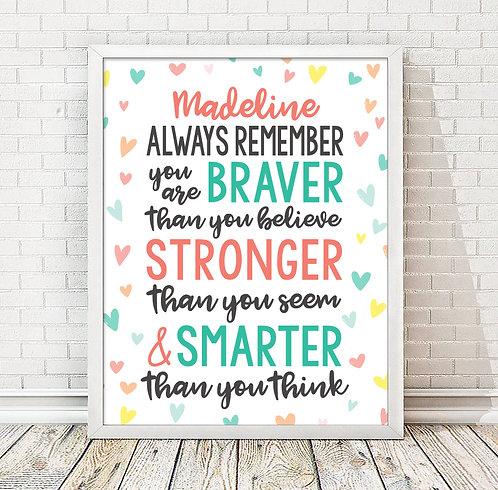 Personalized Motivational Print