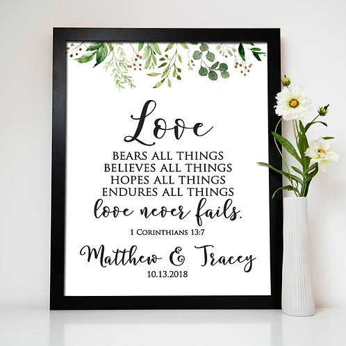 Love never fails print