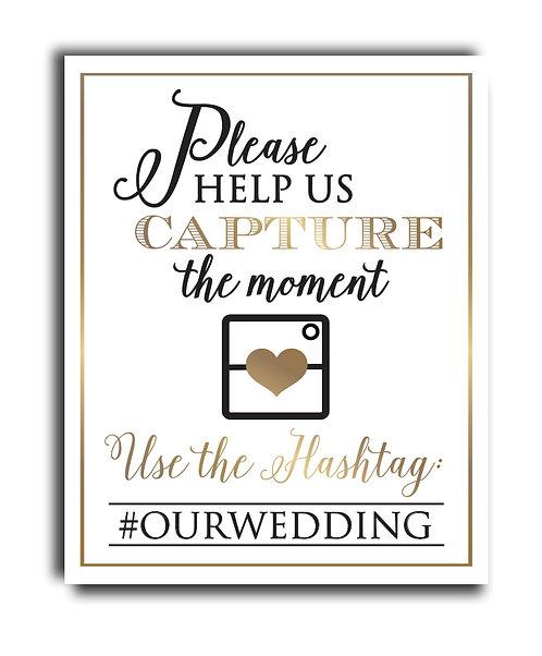 wedding day social media print