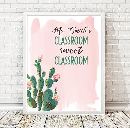 Personalized Teacher Print, Personalized Classroom