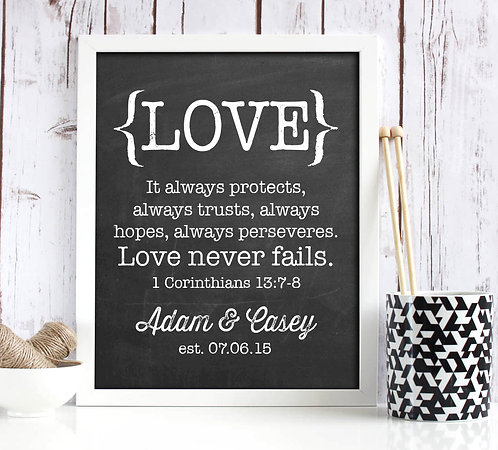 Love Never Fails Corinthians Print
