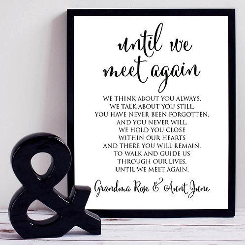 memorial wedding print sign