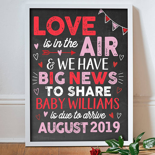 Valentines Day Baby Announcement