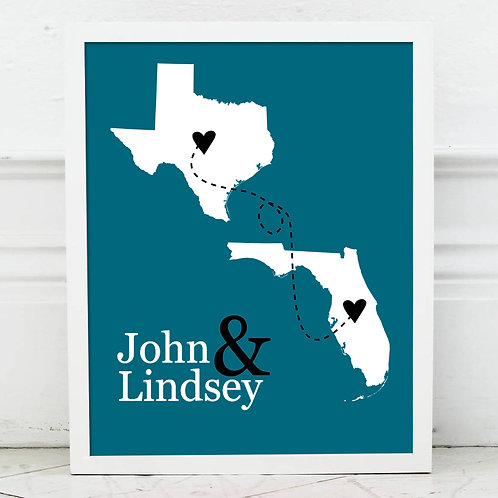 Two State Couple Print
