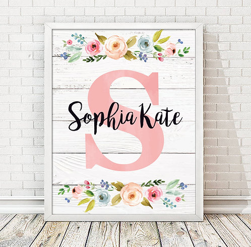 Rustic Country Print, Pink Print that is a perfect gift for a girl
