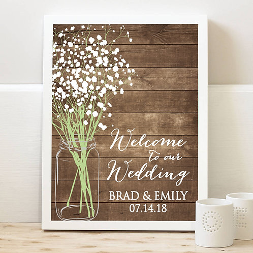 Welcome To Our Wedding Rustic Print