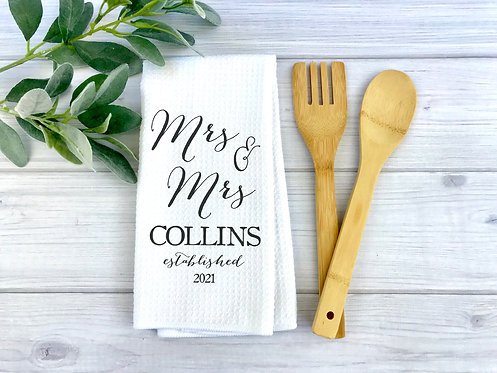 Mrs. and Mrs. Couple Towel