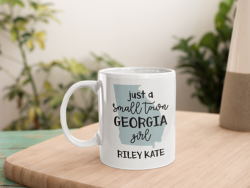 Small Town Girl Personalized State Mug