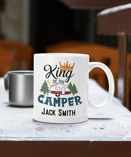 Personalized King Of The Camper Mug