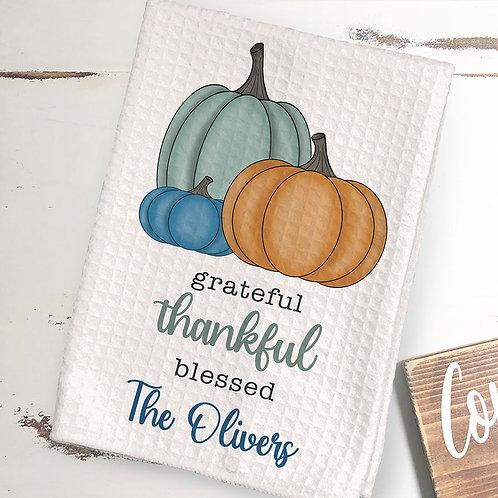 thanksgiving dinner kitchen towel