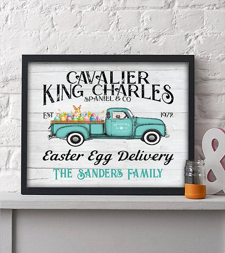 personalized rustic easter decor