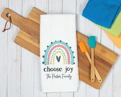 Personalized Choose Joy Dish Towel