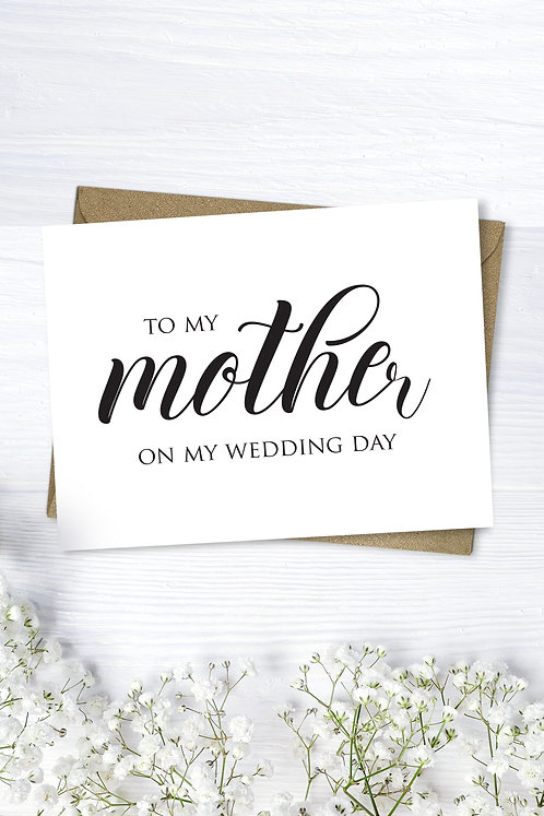 Mother Wedding Day Card