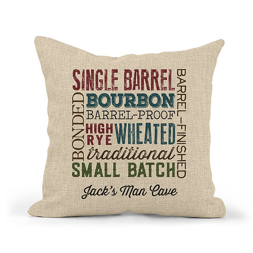 personalized bourbon types collage pillow