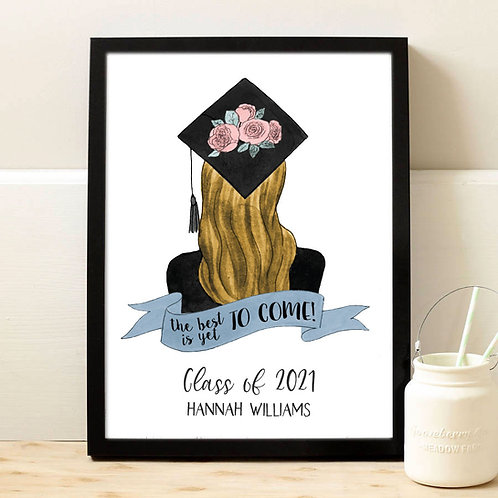 blonde hair graduation sign
