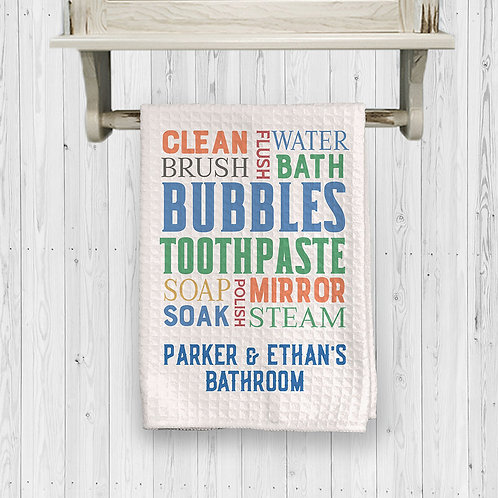 collage bathroom towel clean brush bubbles toothpaste