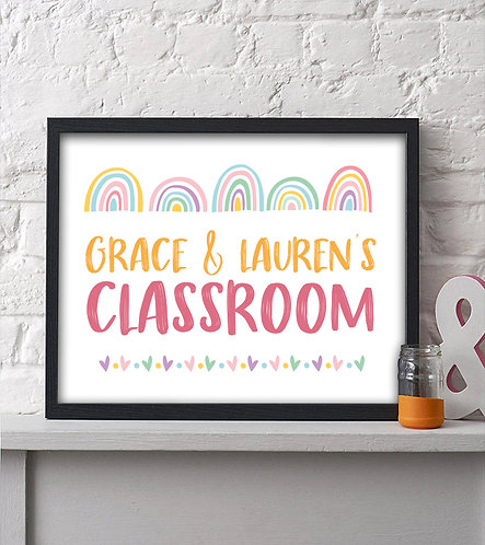 pastel rainbow classroom print