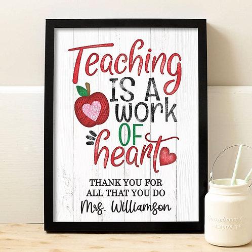 rustic teacher appreciation print