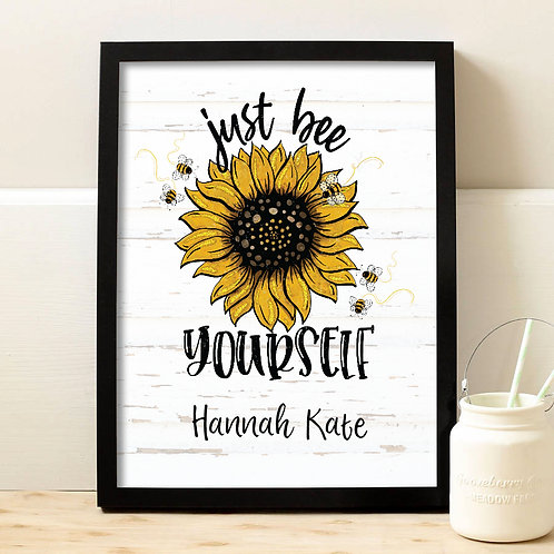 Personalized Sunflower Print