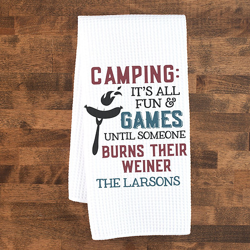 Funny Camping Towel