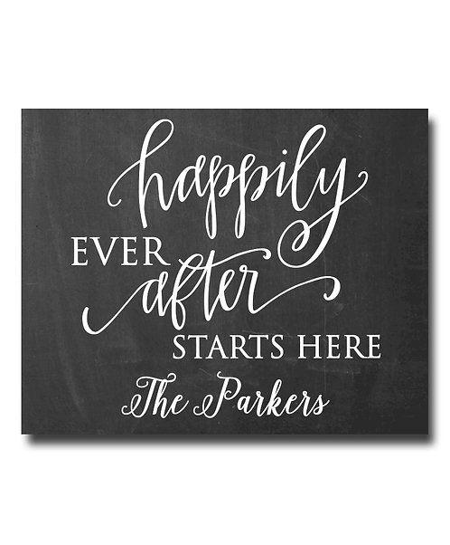 happily ever after chalkboard wedding print